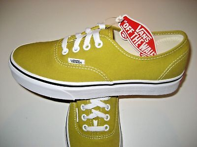 Cress Green (Vans Authentic Mens Cress Green True White Canvas Skate Shoes VN0A38EMU61 NWT )
