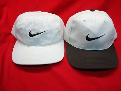 NIKE HATS - GROUP OF TWO (2) HATS, 1 W/RARE BROWN BRIM - USED BUT GREAT COND.
