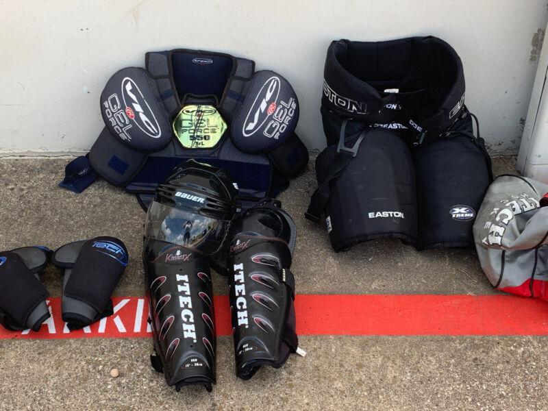 Adult Ice Hockey Gear Set Bauer Vic Easton I Tech