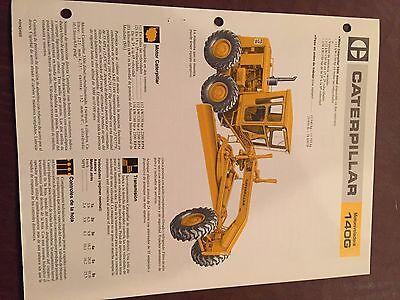 Cat Caterpillar 140 140g Motor Grader Brochure Original Antique Track