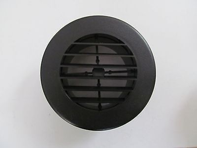 """4"""" BLACK Round Rotaire Grille Heat Covered Screws Outlet Vent 3940BK RV Trailer"""