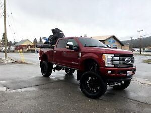 2017 F350 Powerstroke Platinum Lifted Show Truck