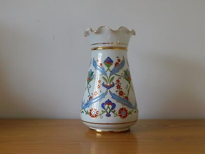 c.20th - Vintage Islamic Middle Eastern Persian Iznik Style Porcelain Vase