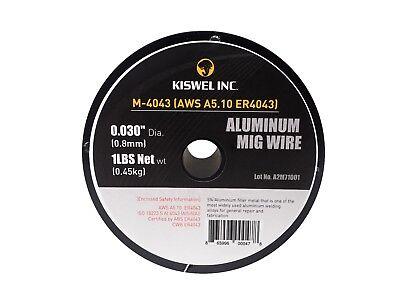 Er4043 0.030 In. Dia 1 Lb. Aluminum Mig Welding Wire Spool Kiswel Usa M-4043