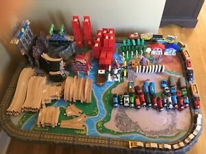 Two huge Kidkraft train sets with Thomas Trains
