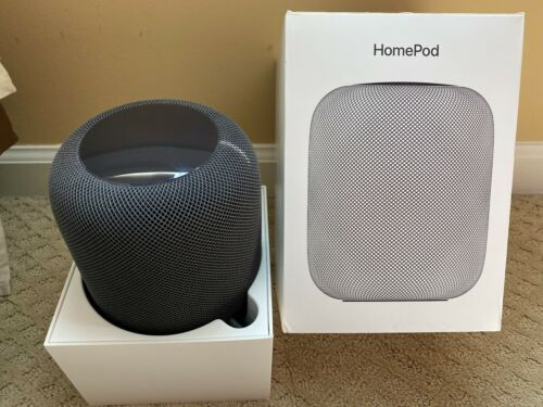 Apple HomePod Voice Enabled Smart Assistant- Black (Barely Used/Great Condition)