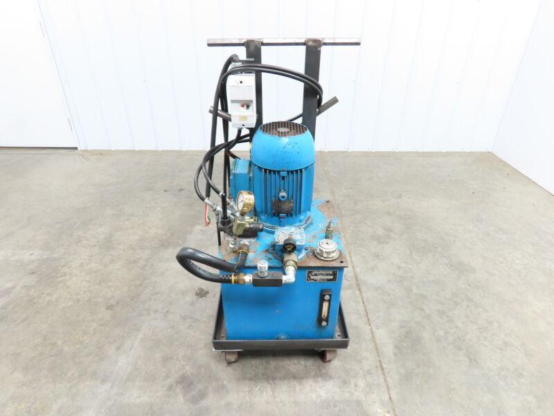 Eaton Vickers 16 Gallon 5 Hp Hydraulic Power Unit W/ Vickers Pump 1800RPM 140Psi