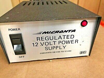 Micronta Regulated 12 Volt Power Supply Cat. No. 22-124 Radio Shack Tests Good