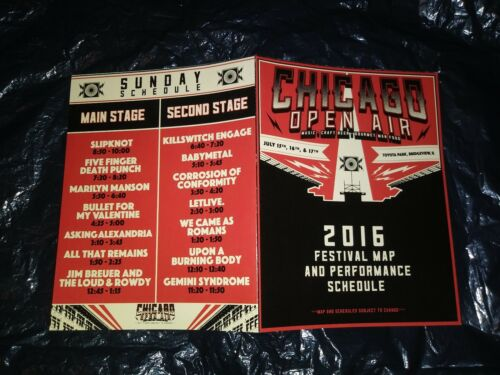 CHICAGO OPEN AIR 2016 Concert Rammstein Slipknot KoRn Manson + Program Map Sets