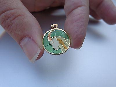 French Art Deco 18K Gold Enamel Capricorn Zodiac Arthus Bertrand Charm Pendant !