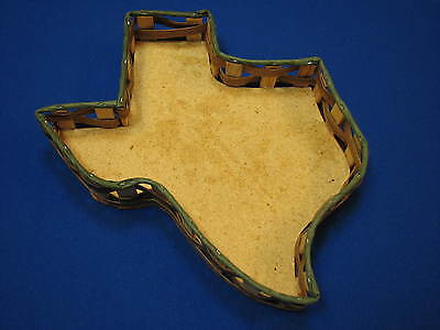 Texas Shaped Wicker Basket State Dallas Houston El Paso