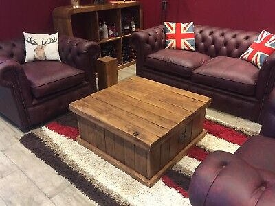Rustic Coffee Table Oak Chest for sale  Northwich