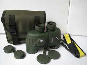 Waterproof  10x50 Marine Floating Binoculars with RangeFinder&Compass scope