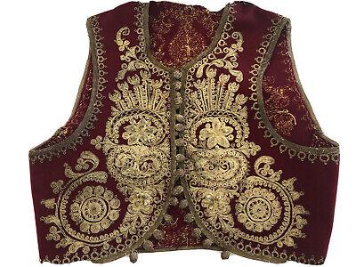 velvet Ottoman Greek antique vest handmade jacket antique embroidery vintage