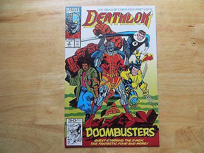 1991 MARVEL COMICS DEATHLOK  # 5 WOLVERINE & FF SIGNED ARTIST, DENYS COWAN, COA