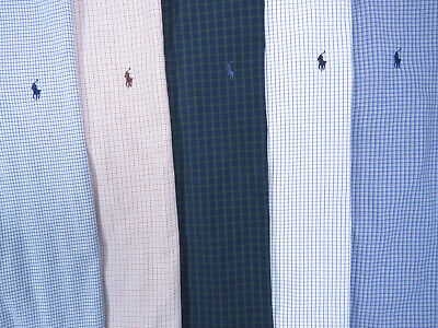 Lot of 5 Ralph Lauren Polo Long Sleeve Button Front Shirts Mens 17 1/2 XL 3 NWOT 3 Button Polo Collar
