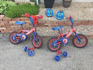 Kids Spider-Man bikes