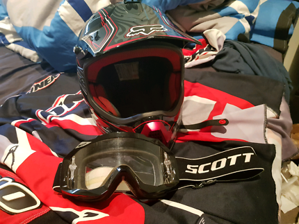 Fox MX helmet scott goggles O'Neal top pants