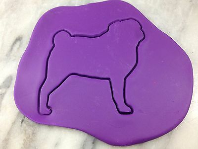 Pug Cookie Cutter Outline CHOOSE YOUR OWN SIZE Dog Puppy 2 ()