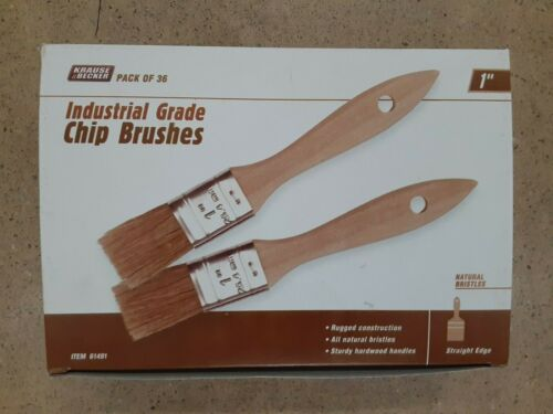"""36 X 1"""" inch CHIP BRUSHES / ALL NATURAL BRISTLES / PAINTING, STAINING, ADHESIVES"""