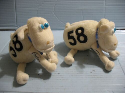 3 Serta Blue Eyed #58 Plush Sheep With Tags