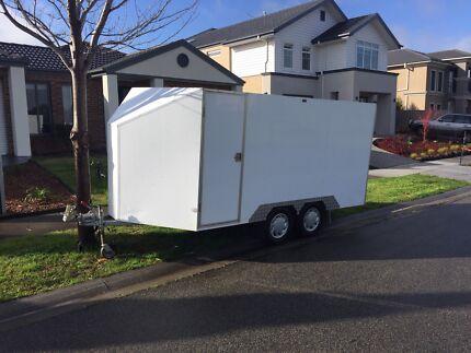 Enclosed box trailer moving toy motorbike go kart hauler storage unit
