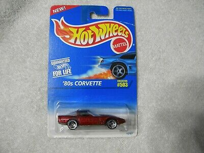 1996 Hot Wheels '80s Corvette - Red with Black Top  - Collector #503 K