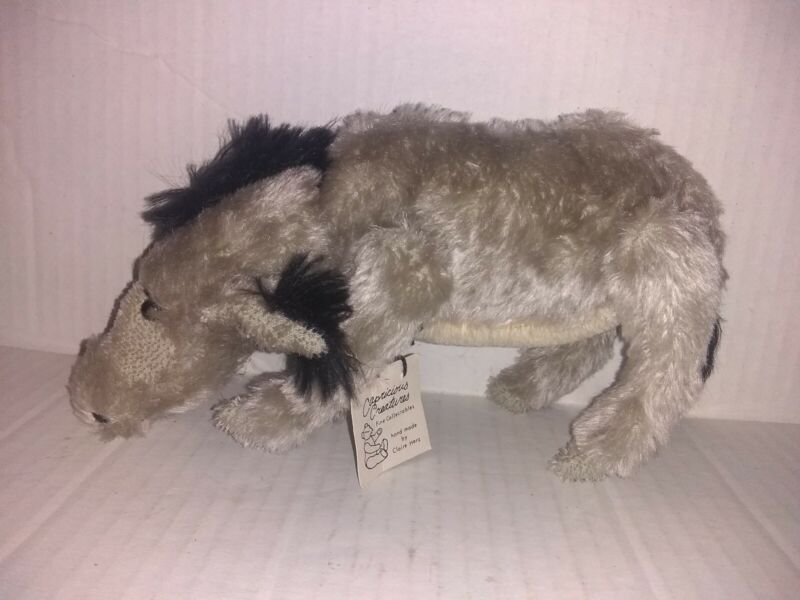 Capricious Creatures Hand Made Claire Herz Eeyore Donkey Jointed Stuffed Plush