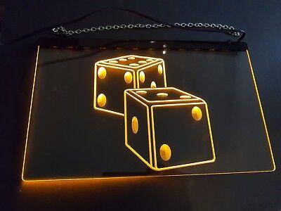 Würfel LED-Schild.