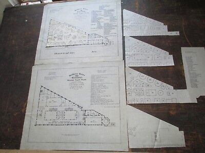 1885 Trace Surveys, Soldiers Home, Boston, First & Second Floor, Table Plans