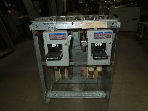 "Siemens-Allis Model 90 100/100A 3ph 600V Twin Fusible Feeder MCC Bucket 18""T"
