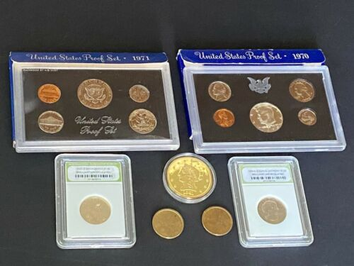 UNITED STATES COIN PROOF SETS PLUS MISC. COINS
