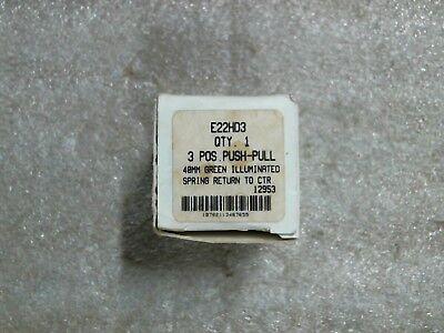 NIB Cutler Hammer E22HD3 40mm 3-Position Green Push-Pull Button - 60 day wnty