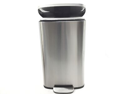 iTouchless SoftStep 13.2 Gallon Stainless Steel Step Trash Can with Odor Control