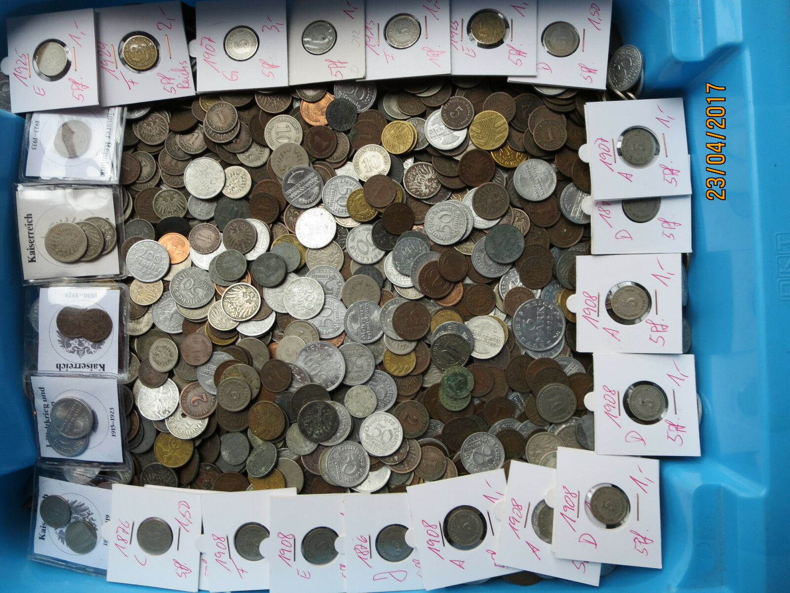 1 Kg Münzen Deutsches Reich, Weimarer Republik, Kaiserreich - Kilo - Kilogramm