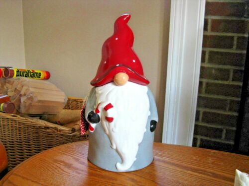 Whimsical Cupboard 10 Strawberry Street GNOME Cookie Jar Canister