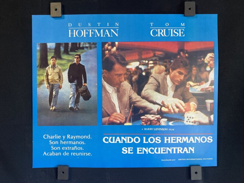 "1988~ RAIN MAN~ Tom Cruise~ Dustin Hoffman~ Orig. MX Lobby Card 14""x11"""