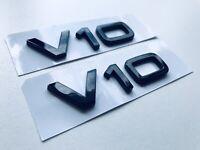 Schriftzug V10 Original Audi Emblem A6 S6 A8 S8 R8 Tuning Schriftzug Chrom OEM