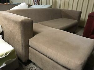Compact cream Fabric Lounge chaise Plumpton Blacktown Area Preview
