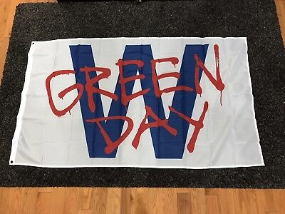 Green Day Wrigley Field Cubs W Flag Pop Up  Exclusive Rare Sold Out