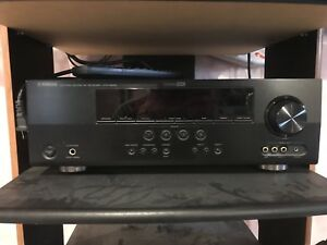 Yamaha receiver and polk audio surround sound system