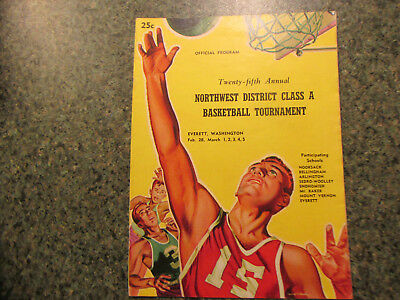 1949 WASHINGTON STATE NW DISTRICT HIGH SCHOOL BASKETBALL CHAMPIONSHIP PROGRAM
