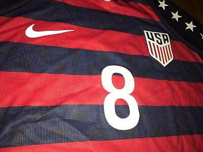 JORDAN MORRIS 2017 Gold Cup Nike Vapor match US soccer Jersey (M) USA Authentic image