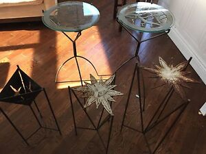 Decorative metal side tables