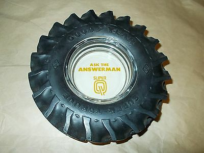 """GOODYEAR TRACTOR TIRE ASHTRAY """"ASK THE ANSEWERMAN"""" MINT NO CHIPS OR CRACKS"""
