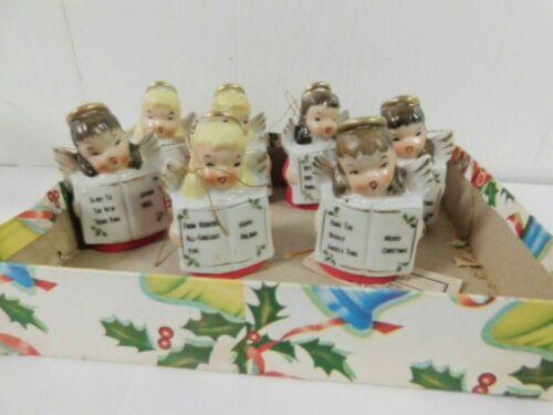 Ardalt Japan Angel Carolers Christmas Bell Ornaments s/ 7