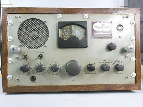 🔥L👀K Vintage Scott Marine Multi Band Receiver Radio Model SLRM - Clean Unit
