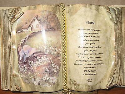 *NEW* Cadre Livre VOISINS H.20cm L.30cm Judith Bond