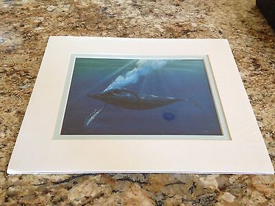 "D.J. Khamis Kauai Museum Ary ""whale And Baby"" Light Blue"