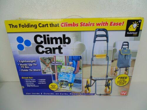NEW Climb Cart Stair Climbing Folding Utility Trolley as Seen on TV, Holds 75lbs